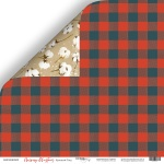 Лист двусторонней бумаги 30x30 от Scrapmir Красный Плед из коллекции Merry Christmas 10шт