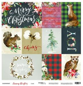 Лист односторонней бумаги 30x30 от Scrapmir Cards из коллекции Merry Christmas 10шт