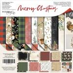 Набор двусторонней бумаги 20х20см от Scrapmir Merry Christmas 11шт