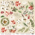 Лист односторонней бумаги 30x30 от Scrapmir Элементы из коллекции Scrapmir Merry Christmas 10шт