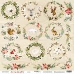 Лист односторонней бумаги 30x30 от Scrapmir Декор из коллекции Merry Christmas 10шт