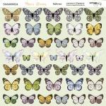 Лист двусторонней бумаги 20х20см Бабочки Mice's Stories от Scrapmir 10шт