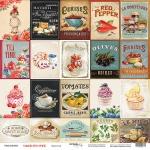 Лист односторонней бумаги 30x30 от Scrapmir Карточки из коллекции Sugar and Spice 10шт