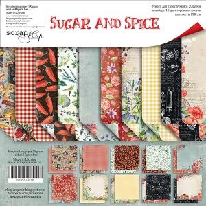 Набор двусторонней бумаги 20х20см от Scrapmir Sugar and Spice 10шт