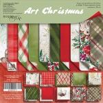 Набор двусторонней бумаги 30х30см от Scrapmir Art Christmas 10шт