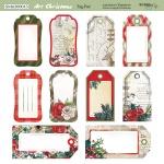 Лист двусторонней бумаги 20х20см Tag-Pad Art Christmas от Scrapmir 10шт