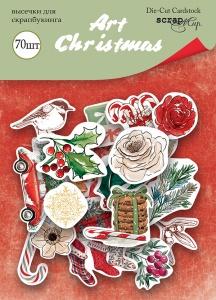Набор высечек для скрапбукинга 70шт от Scrapmir Art Christmas Плотность 250г/м