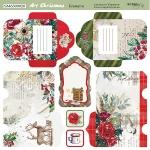 Лист двусторонней бумаги 20х20см Конверты Art Christmas от Scrapmir 10шт
