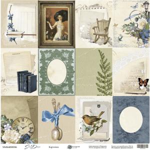 Лист односторонней бумаги 30x30 от Scrapmir Карточки из коллекции Some days 10шт