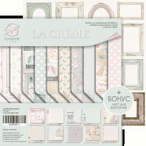 Набор двусторонней бумаги 30х30см от Scrapmir La Creme 10шт.