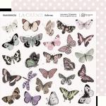 Лист двусторонней бумаги 20х20см Бабочки La Creme от Scrapmir 10шт