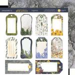 Лист двусторонней бумаги 20х20см Tag-Pad Herbarium Wild summer от Scrapmir 10шт