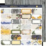 Лист двусторонней бумаги 20х20см Билетики Herbarium Wild summer от Scrapmir 10шт