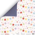 Лист двусторонней бумаги 30x30 от Scrapmir Флажки из коллекции Birthday Party 10шт