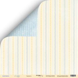 Лист двусторонней бумаги 30x30 от Scrapmir Карамель из коллекции Little Bear 10шт