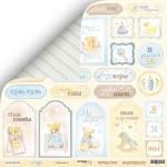 Лист двусторонней бумаги 30x30 от Scrapmir Карточки 2 из коллекции Little Bear 10шт