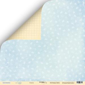 Лист двусторонней бумаги 30x30 от Scrapmir Счастье из коллекции Little Bear 10шт