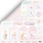 Лист двусторонней бумаги 30x30 от Scrapmir Карточки 2 из коллекции Little Bunny 10шт