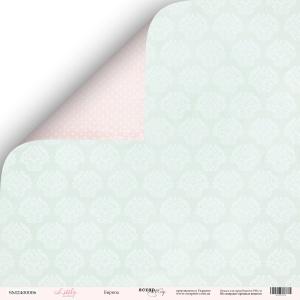 Лист двусторонней бумаги 30x30 от Scrapmir Бирюза из коллекции Little Bunny 10шт