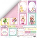 Лист двусторонней бумаги 30x30 от Scrapmir Карточки из коллекции Sweet Girls 10шт