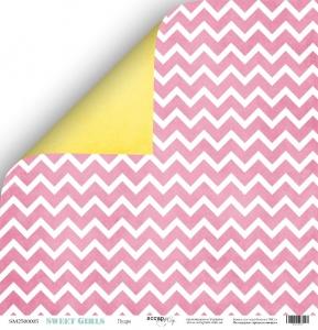 Лист двусторонней бумаги 30x30 от Scrapmir Пудра из коллекции Sweet Girls 10шт