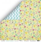 Лист двусторонней бумаги 30x30 от Scrapmir Полевые цветы из коллекции Sweet Girls 10шт