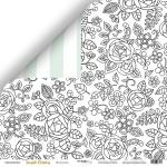Лист двусторонней бумаги 30x30 от Scrapmir Настроение из коллекции  Simple Flowers 10шт.