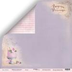 Лист двусторонней бумаги 30x30 от Scrapmir Десерт из коллекции  Delicious Recipes 10шт
