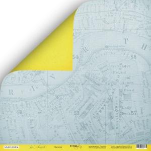 Лист двусторонней бумаги 30x30 от Scrapmir Поездка из коллекции Let's Travel 10шт