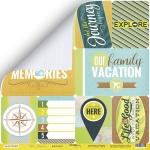 Лист двусторонней бумаги 30x30 от Scrapmir Карточки 1 (eng.) из коллекции Let's Travel 10шт